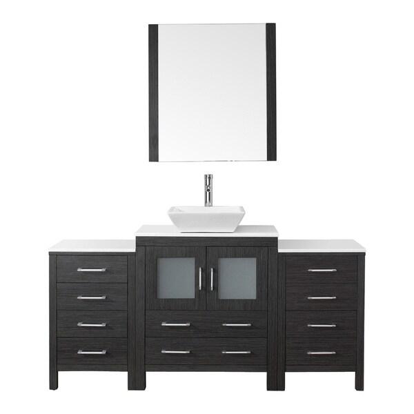 Virtu Usa Dior 66 Inch Single Sink Vanity Set In Zebra Grey 16129154 Shopping