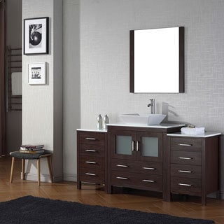 Virtu USA Dior 68 inch Single Sink Vanity Set in Espresso