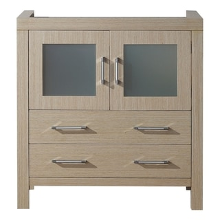 Virtu USA Dior 32-inch Light Oak Single Sink Cabinet Only Bathroom Vanity