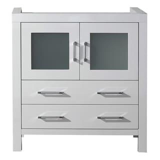 Virtu USA Dior 32-inch White Single Sink Cabinet Only Bathroom Vanity