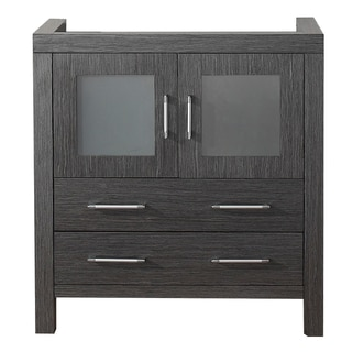 Virtu USA Dior 32-inch Zebra Grey Single Sink Cabinet Only Bathroom Vanity