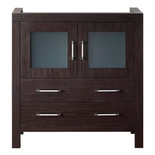 Virtu USA Dior 32-inch Espresso Single Sink Cabinet Only Bathroom Vanity