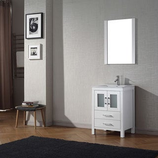 Virtu USA Dior 24 inch Single Sink Vanity Set in White