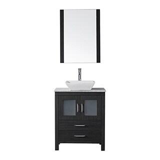 Virtu USA Dior 24 inch Single Sink Vanity Set in Zebra Grey