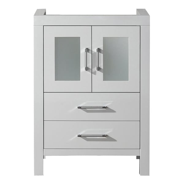 virtu usa 24 inch white single sink cabinet only