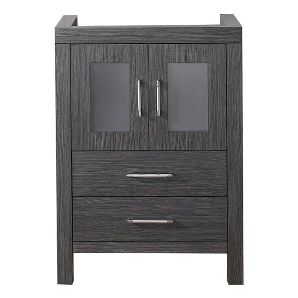 usa dior 24 inch zebra grey single sink cabinet only bathroom vanity