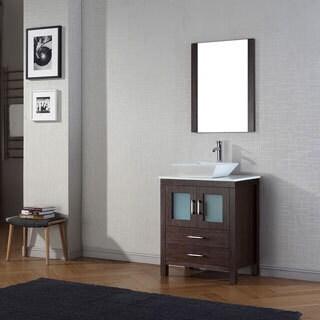 Virtu USA Dior 28 inch Single Sink Vanity Set in Espresso