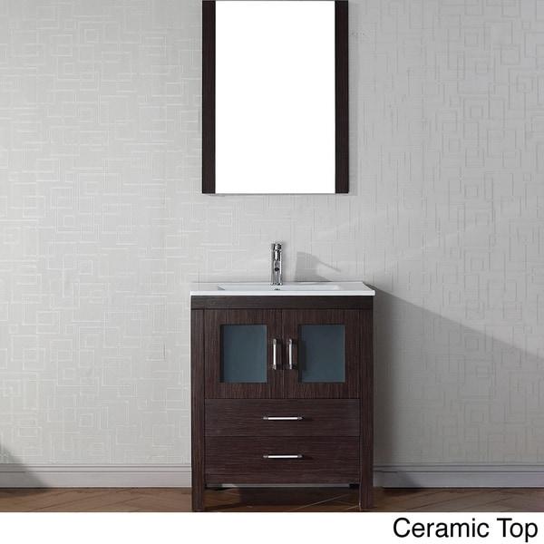 virtu usa dior 28 inch single sink vanity set in espresso 16129172