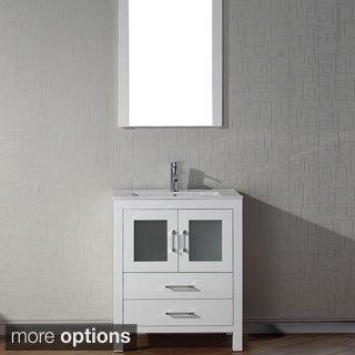Virtu USA Dior 28 inch Single Sink Vanity Set in White