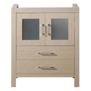 Virtu USA Dior 28-inch Light Oak Single Sink Cabinet Only Bathroom Vanity