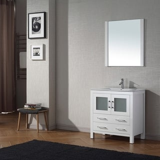 Virtu USA Dior 30 inch Single Sink Vanity Set in White