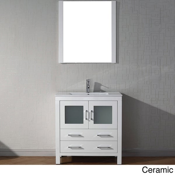 Sink White Vanity With Carrara White Marble Countertop With Backsplash