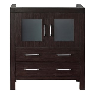 Virtu USA Dior 30-inch Espresso Single Sink Cabinet Only Bathroom Vanity