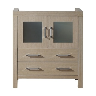 Virtu USA Dior 30-inch Light Oak Single Sink Cabinet Only Bathroom Vanity