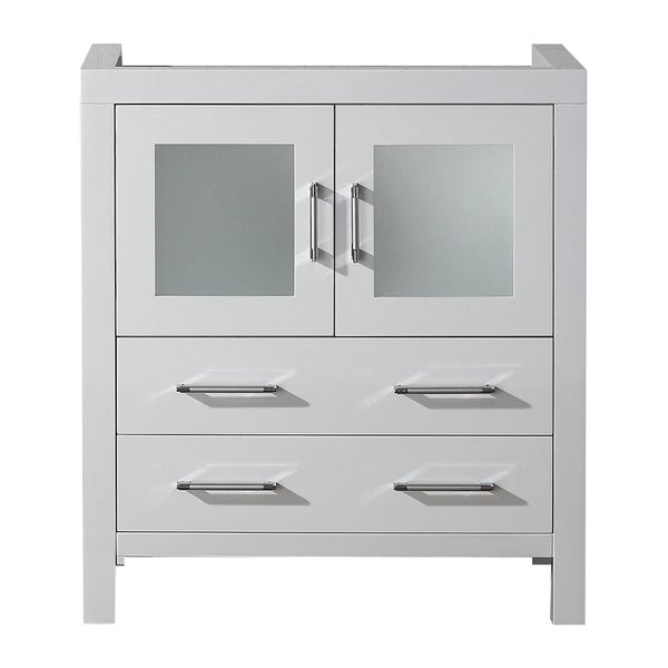 virtu usa 30 inch white single sink cabinet only