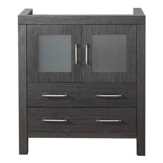 Virtu USA Dior 30-inch Zebra Grey Single Sink Cabinet Only Bathroom Vanity