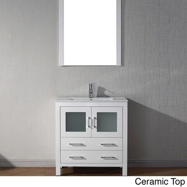 virtu usa 32 inch single sink vanity set in white