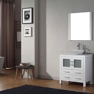 Virtu USA Dior 32 inch Single Sink Vanity Set in White