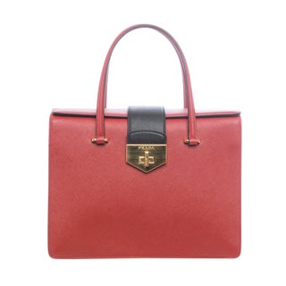 Prada Tri-color Saffiano Leather Box Satchel