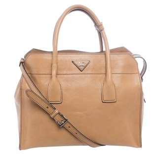 Prada BN2681 PEO F0018 Glace Calf Leather Tote