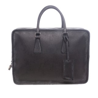 Prada Antiqued Saffiano Leather Briefcase