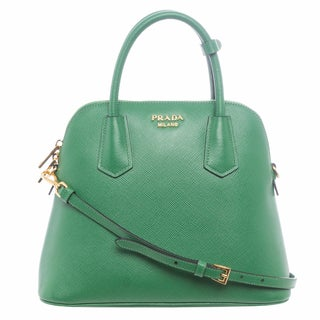 Prada BL0907 2A4A F0089 Small Saffiano Leather Dome Satchel