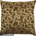 Golden Greek Outdoor Safe 18-inch Decorative Throw Pillow