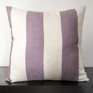 Soild Stripes Square Decorative 18 x 18-inch Throw Pillow