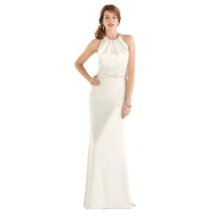 Dessy After Six Bridal Women's Halter Wedding Gown