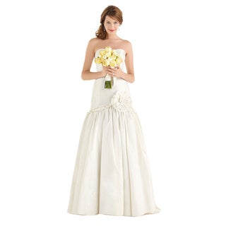 Dessy After Six Bridal Women's Strapless Wedding Ball Gown