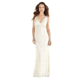 After Six Bridal Women's Full-length Guipure Lace Bridal Gown