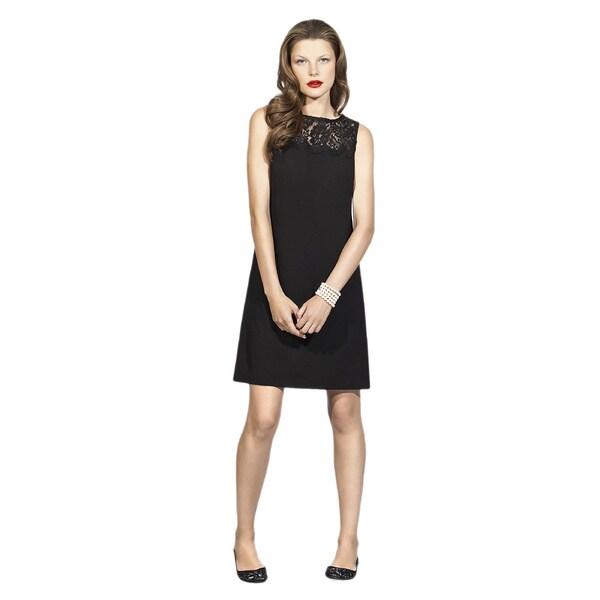 Dessy Collection Women's 'Nicole' Black Sleeveless Shift Dress