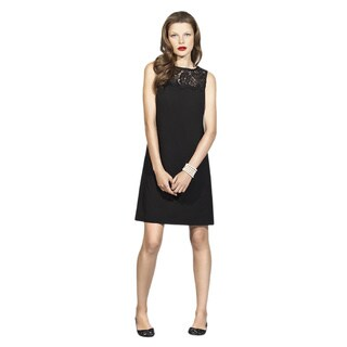 Dessy Collection Women's 'Nicole' Black Sleeveless Shift Dress