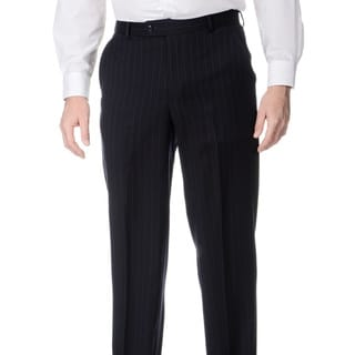 Palm Beach Men's Big and Tall Navy Flat Front Pants