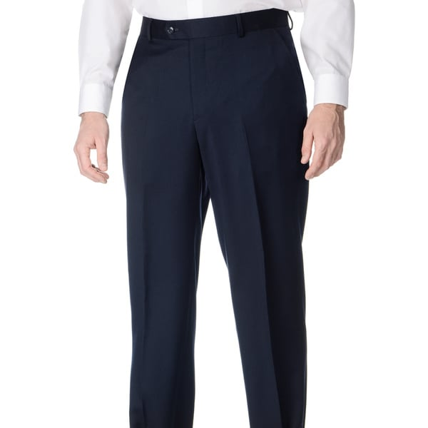 Henry Grethel Men's Big and Tall Flat Front Blue Pants