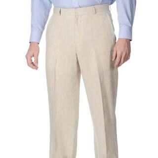 Henry Grethel Men's Big & Tall Flat Front Natural Pant