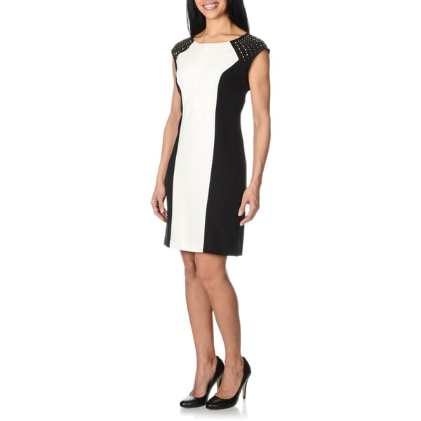 Studio One Women's Shoulder Embellished Dress