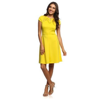 Sandra Darren Women's Laser Cut Dress
