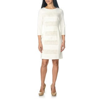 Studio One Women's Lace Inset Dress
