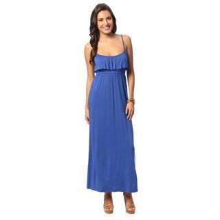 Hadari Royal Blue Sleeveless Maxi Dress