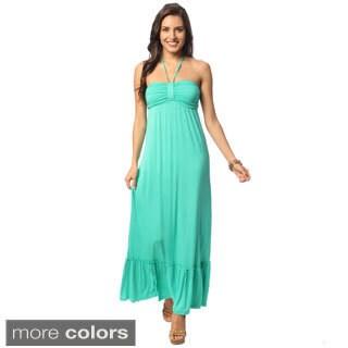 Hadari Halter Maxi Dress