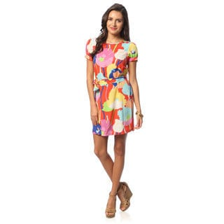 Hadari Floral Multicolored Shift Dress