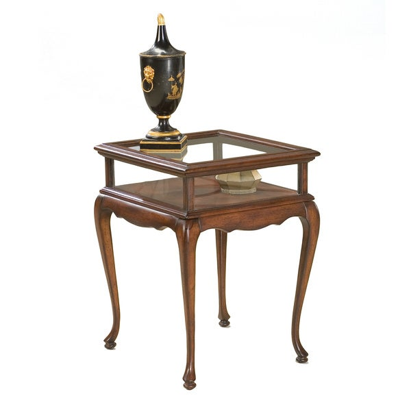 Cherry Glass Top Curio Table 16129379 Shopping The