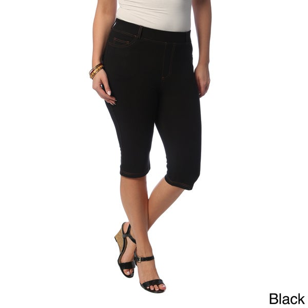 La Cera Women's Plus Size Bermuda Shorts