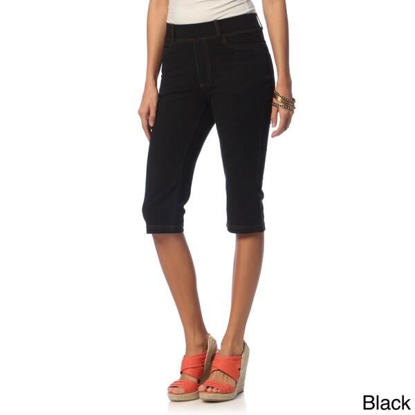 La Cera Women's Missy Tri-blend Bermuda Shorts