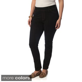 La Cera Women's Plus Size Denim Jeggings