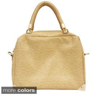 Cleopatra 'Darcy' Snake-embossed Top Handle Satchel