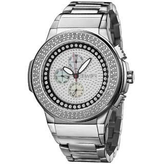JBW Men's 'Saxon' Stainless Steel Crystal Analog Watch