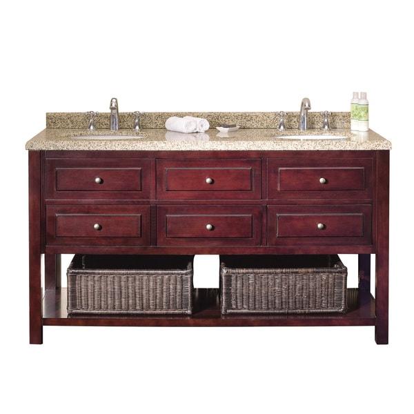 Ove decors danny 60 inch double sink bathroom vanity - 60 inch unfinished bathroom vanity ...