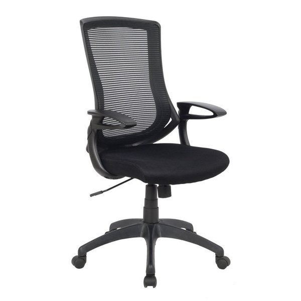 OFFICE High Back Black Mesh Adjustable Recliner Office Computer Chair